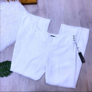 Cole Daniel White Button Side Flare Pants 0212